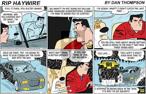 Rip Haywire on Sunday February 9, 2020 Comic Strip