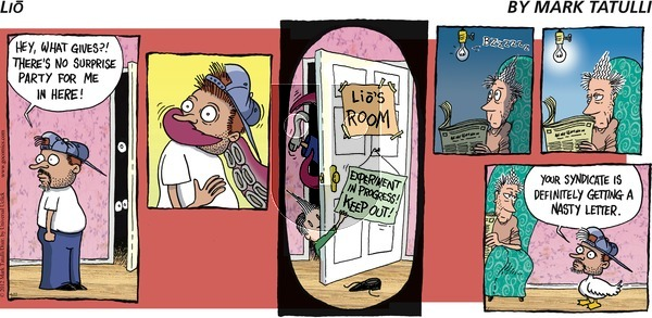Lio on Sunday April 22, 2012 Comic Strip