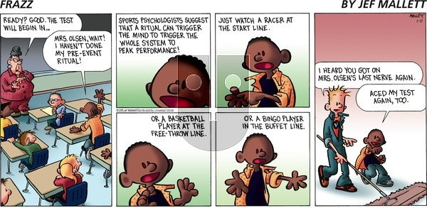 Frazz on Sunday January 11, 2015 Comic Strip