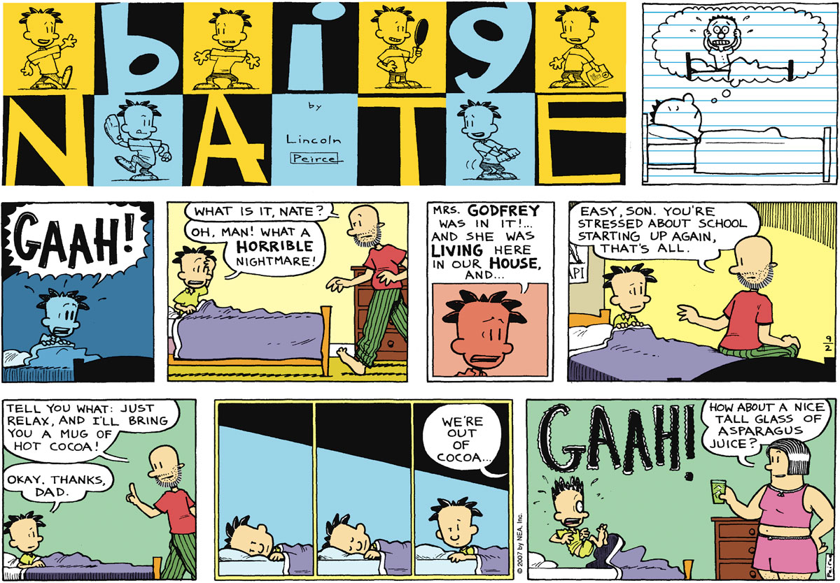 Big Nate Comic Strip for September 02, 2007