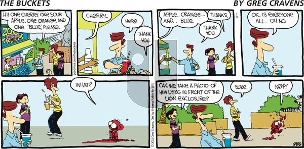 The Buckets on Sunday May 31, 2015 Comic Strip