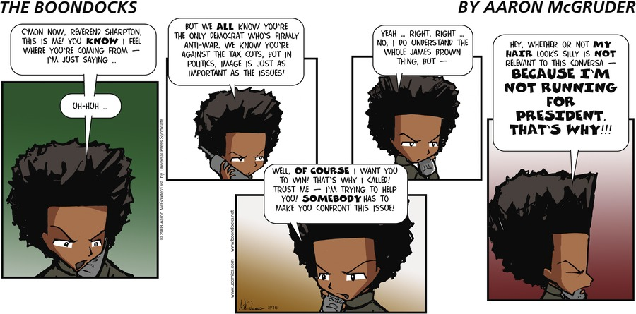 The Boondocks Comic Strip for February 16, 2003
