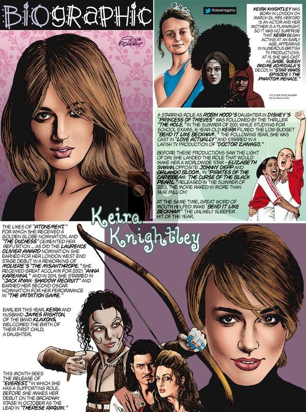 Biographic on Sunday September 13, 2015 Comic Strip