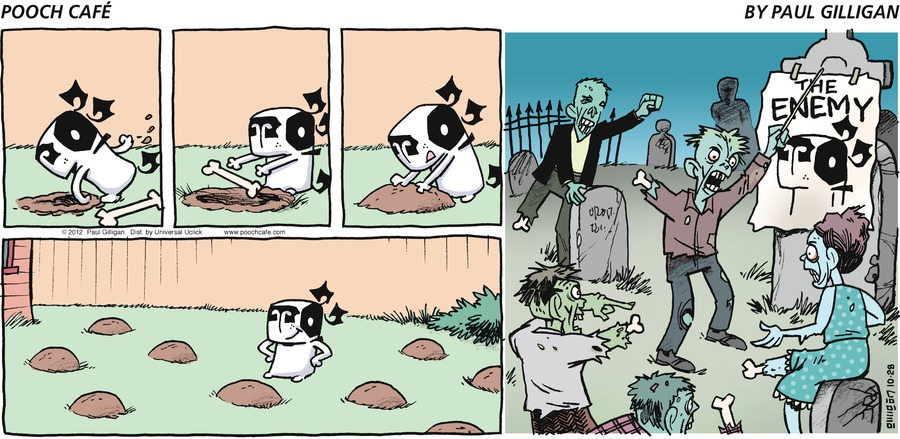 Pooch Cafe Comic Strip for October 28, 2012