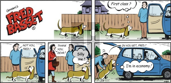 Fred Basset on Sunday May 3, 2020 Comic Strip