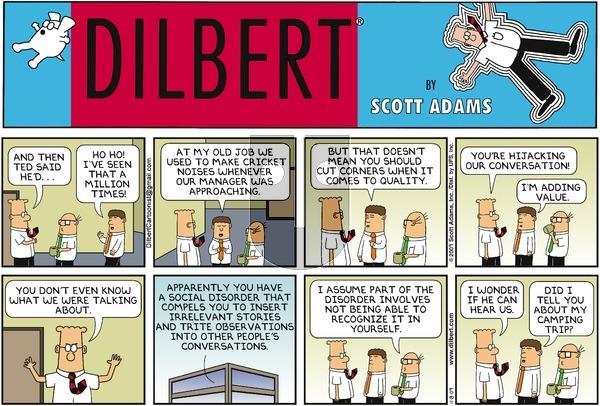 Dilbert on Sunday November 8, 2009 Comic Strip