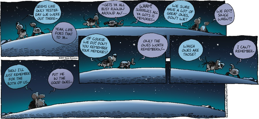 Little Dog Lost Comic Strip for January 29, 2017