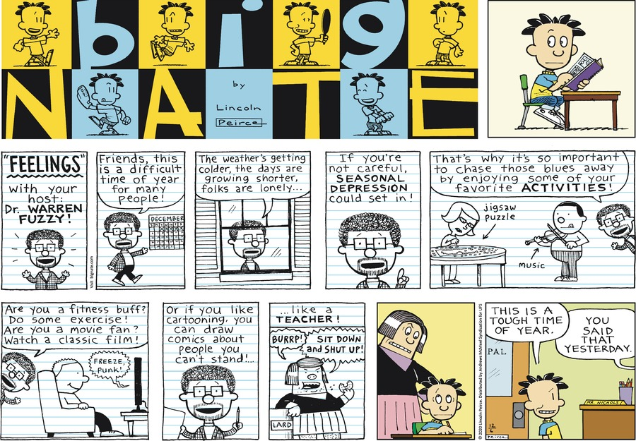 Big Nate Comic Strip for December 06, 2020