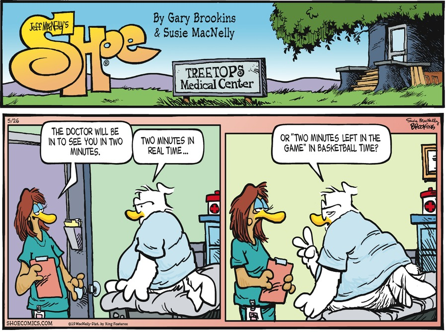 Shoe Comic Strip for May 26, 2019