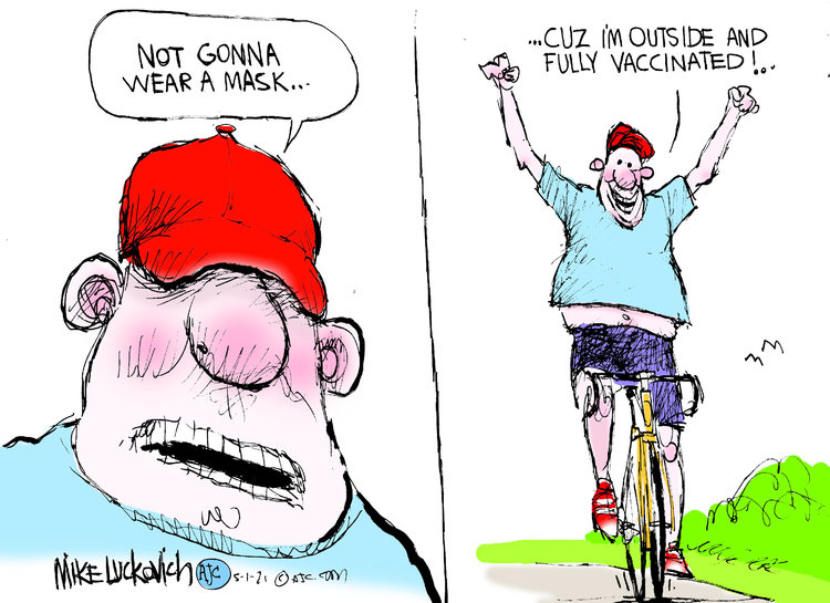 Mike Luckovich by Mike Luckovich on Sat, 01 May 2021