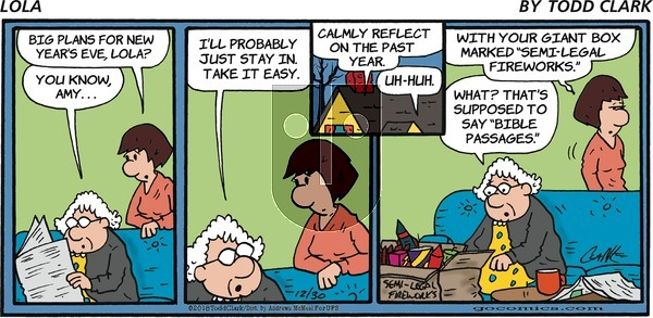 Lola on Sunday December 30, 2018 Comic Strip