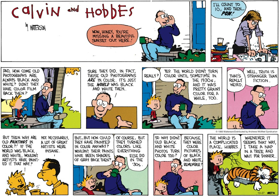 Calvin and Hobbes Comic Strip for October 27, 2019