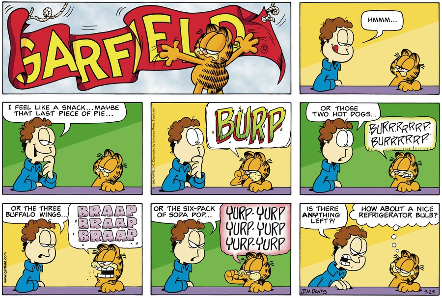 Garfield Comic Strip for April 25, 1999