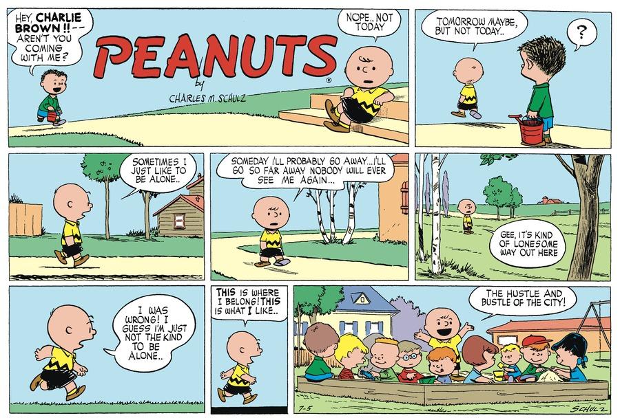Peanuts Begins Comic Strip for July 05, 1953