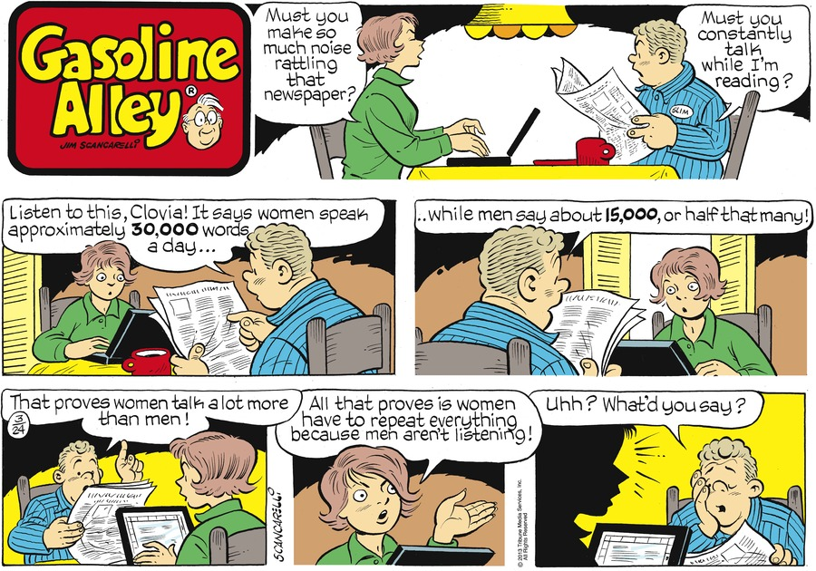 Gasoline Alley Comic Strip for March 24, 2013
