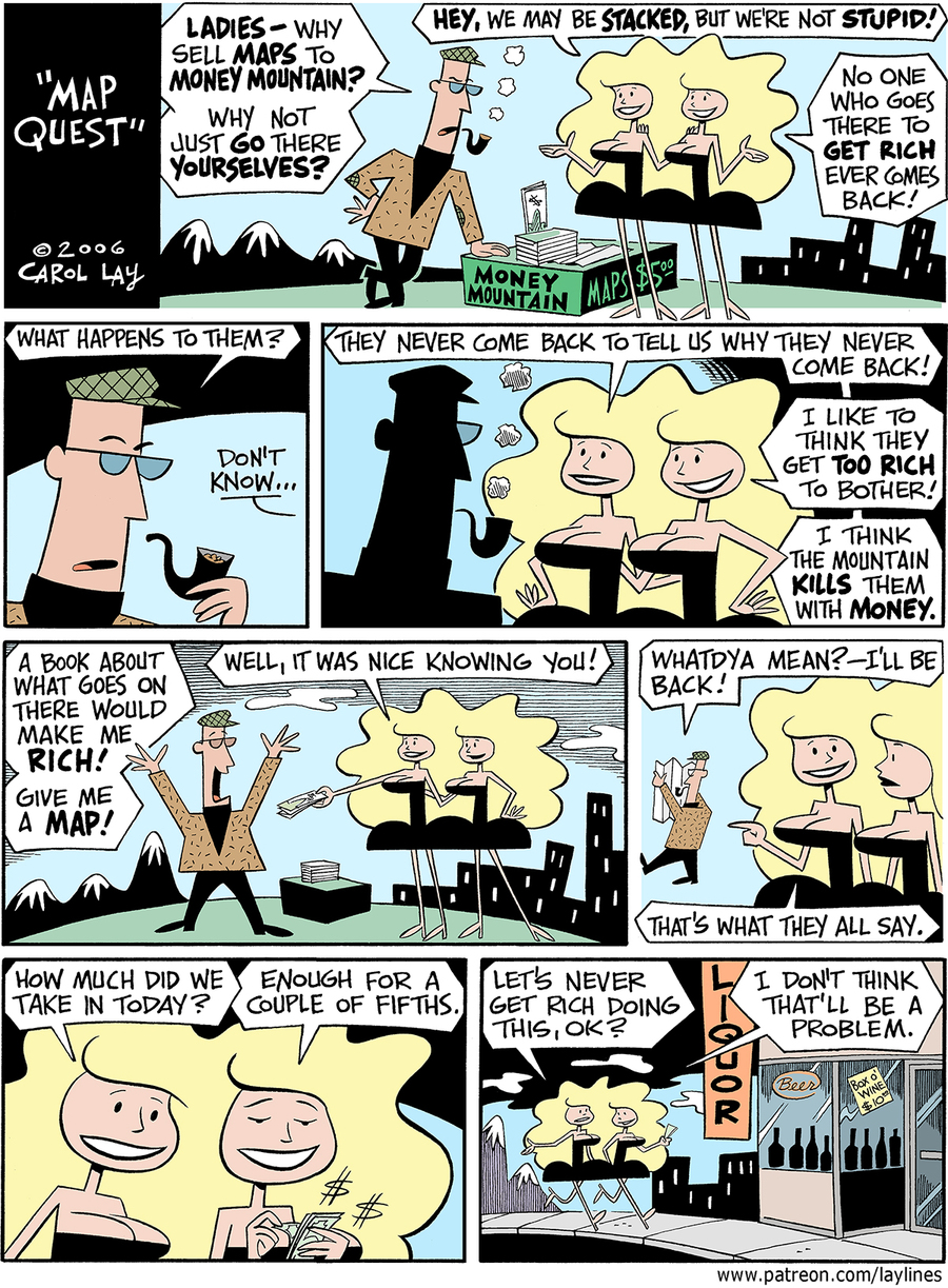 Lay Lines Comic Strip for October 25, 2017