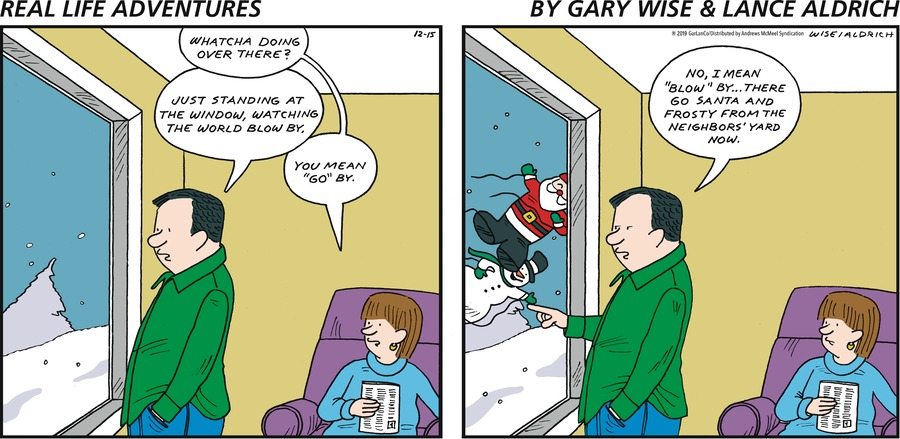 Real Life Adventures Comic Strip for December 15, 2019