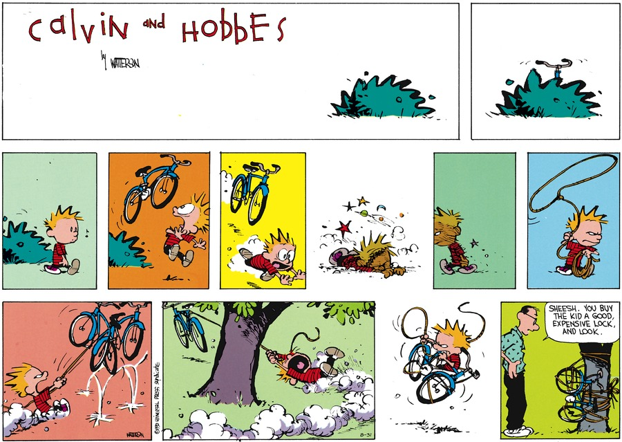Calvin and Hobbes Comic Strip for August 31, 2014