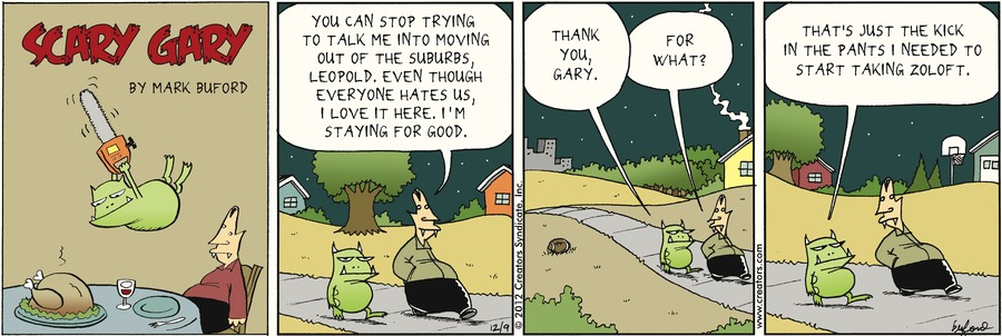 Scary Gary Comic Strip for December 09, 2012