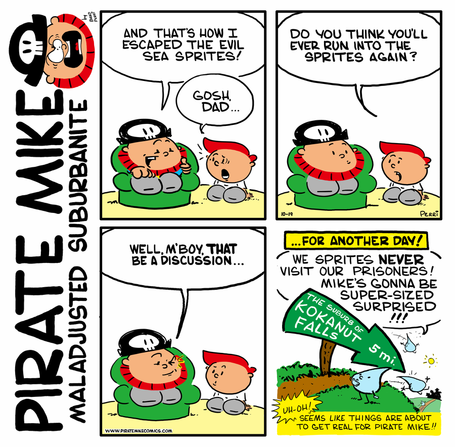 Pirate Mike Comic Strip for March 25, 2020