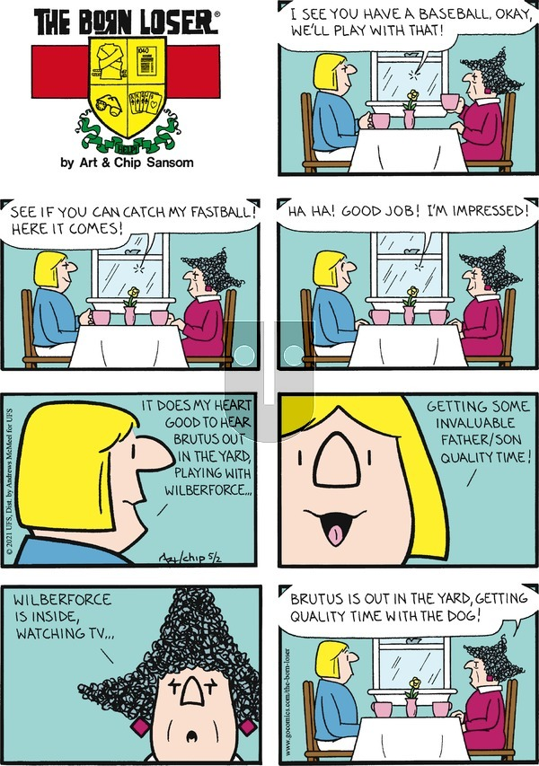 The Born Loser on Sunday May 2, 2021 Comic Strip