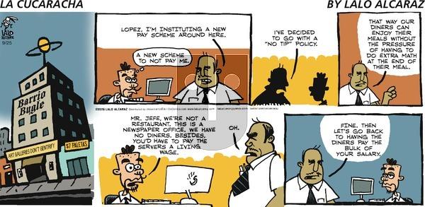 La Cucaracha on Sunday September 25, 2016 Comic Strip