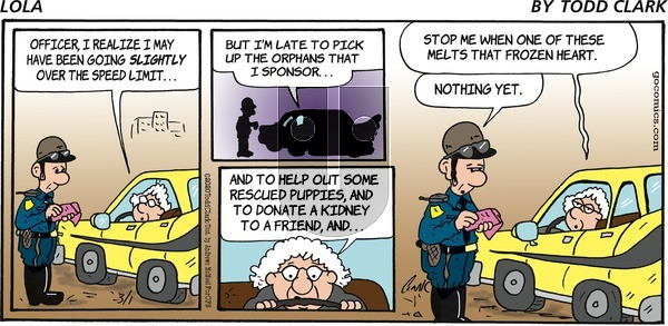Lola on Sunday March 1, 2020 Comic Strip
