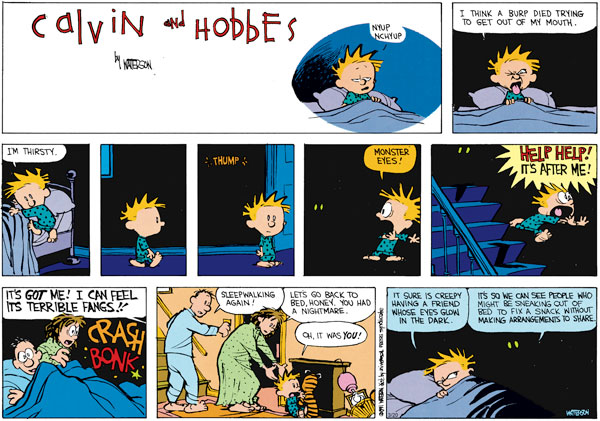 Calvin and Hobbes Comic Strip for March 20, 2011