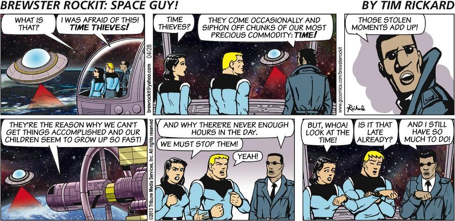 Brewster Rockit for Apr 28, 2013 Comic Strip