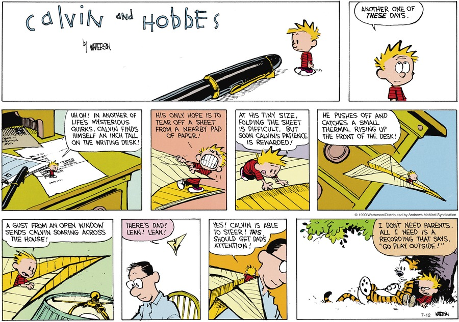 Calvin and Hobbes Comic Strip for July 12, 2020