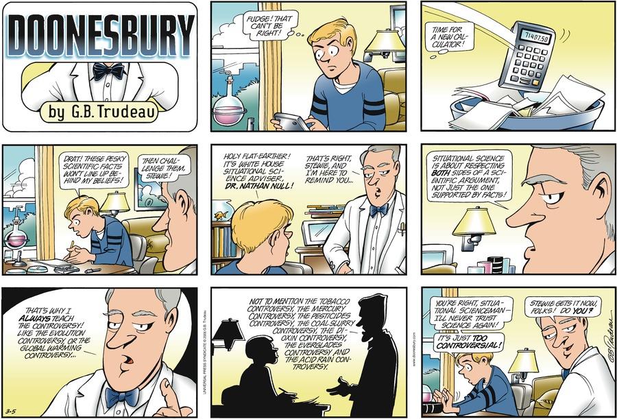 Doonesbury Comic Strip for March 05, 2006
