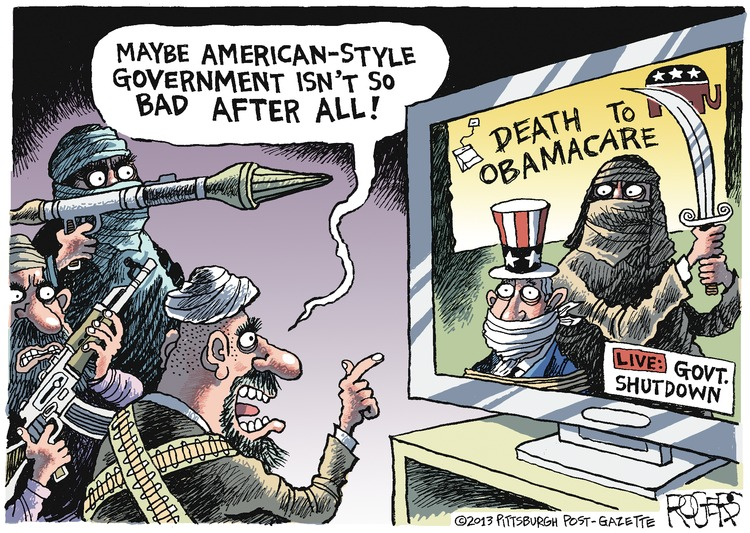 Terrorist: Maybe American-style government isn't so bad after all! 