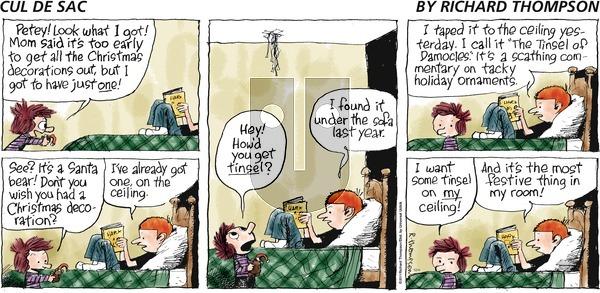 Cul de Sac on December 4, 2016 Comic Strip