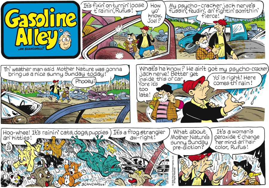 Gasoline Alley Comic Strip for March 29, 2020
