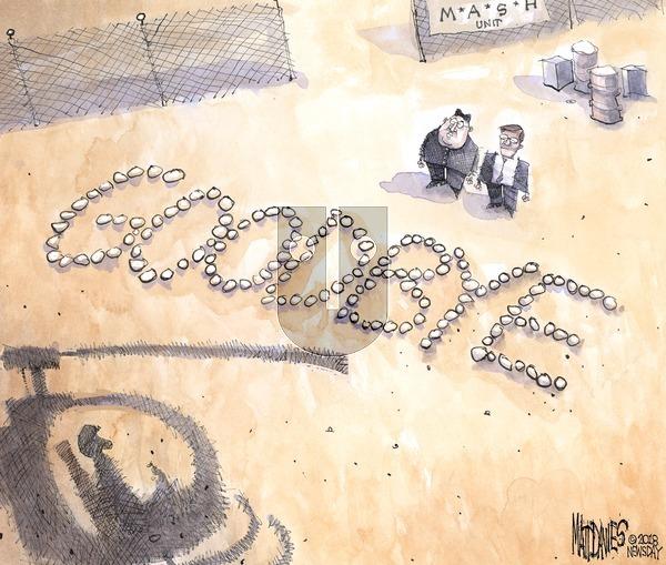 Matt Davies on Sunday April 29, 2018 Comic Strip