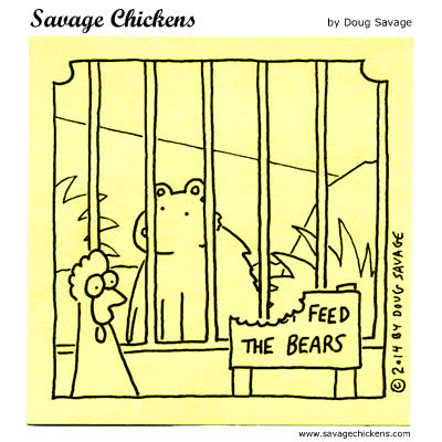 Savage Chickens Comic Strip for May 25, 2018