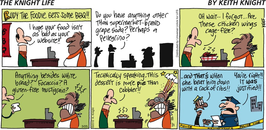 The Knight Life Comic Strip for March 25, 2012