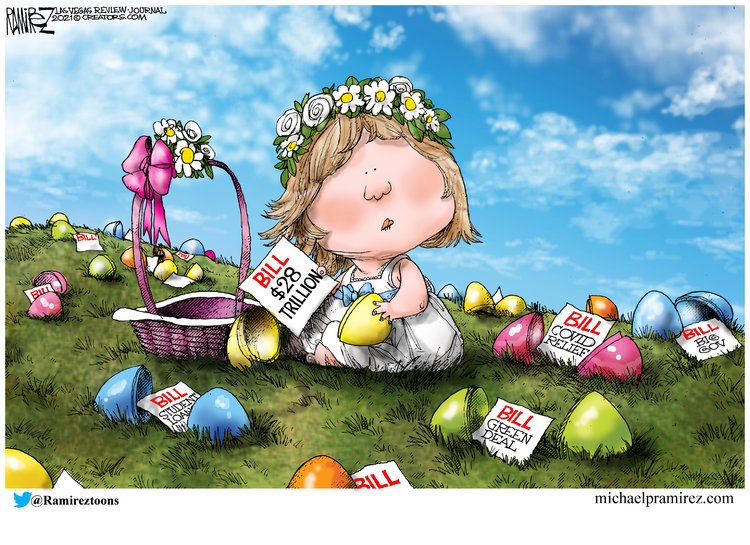 Michael Ramirez Comic Strip for April 04, 2021