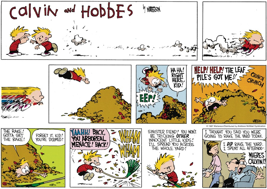 Calvin and Hobbes for Oct 1, 2017 Comic Strip