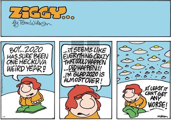 Ziggy on Sunday November 22, 2020 Comic Strip
