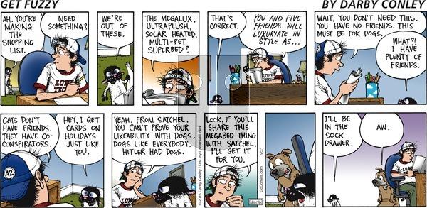 Get Fuzzy - Sunday May 31, 2015 Comic Strip
