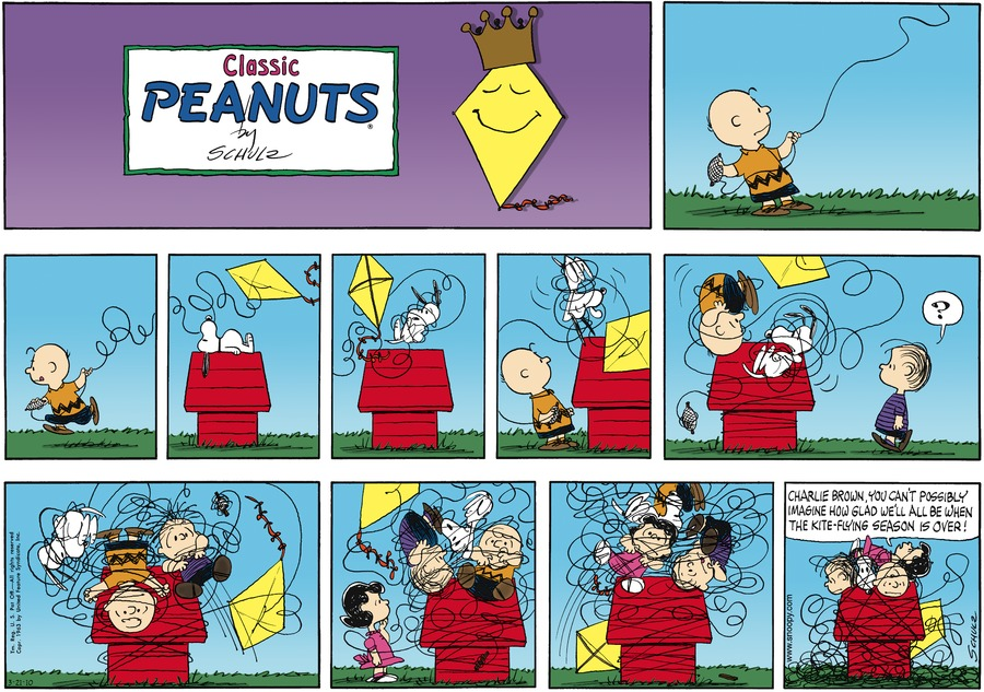 Peanuts Comic Strip for March 21, 2010
