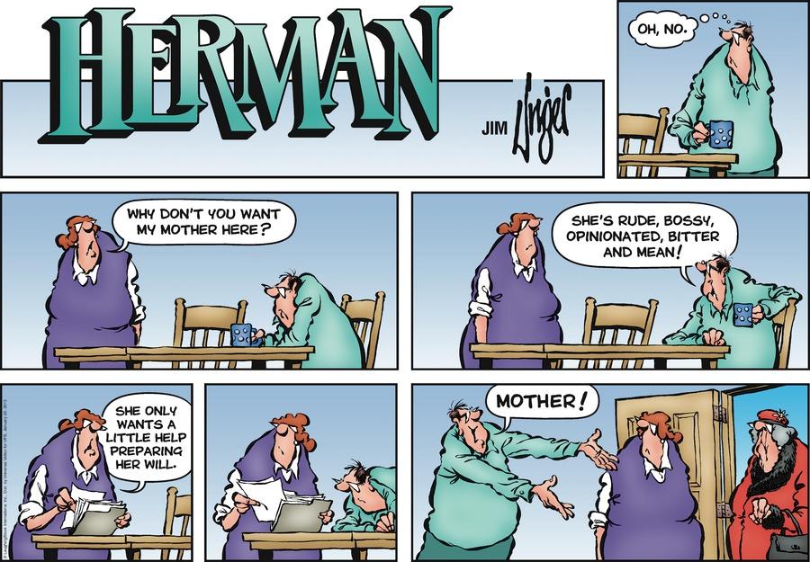 Herman for Jan 20, 2013 Comic Strip