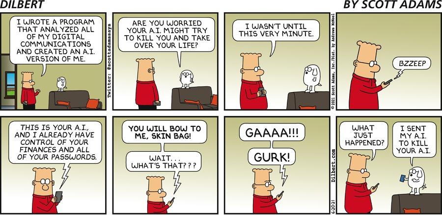 Dilbert Builds An Ai Of His - Dilbert by Scott Adams