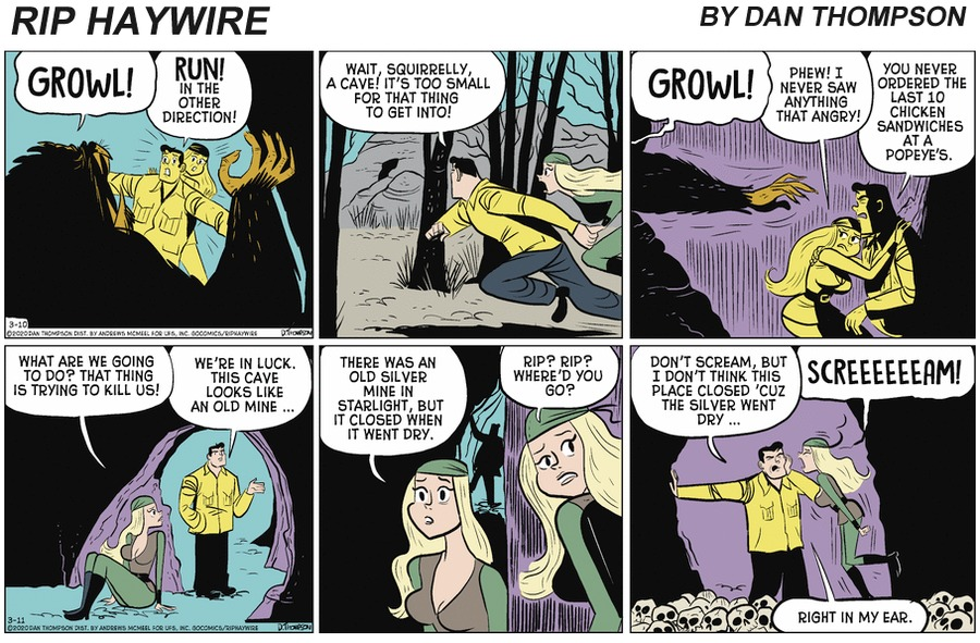 Rip Haywire Comic Strip for September 26, 2021