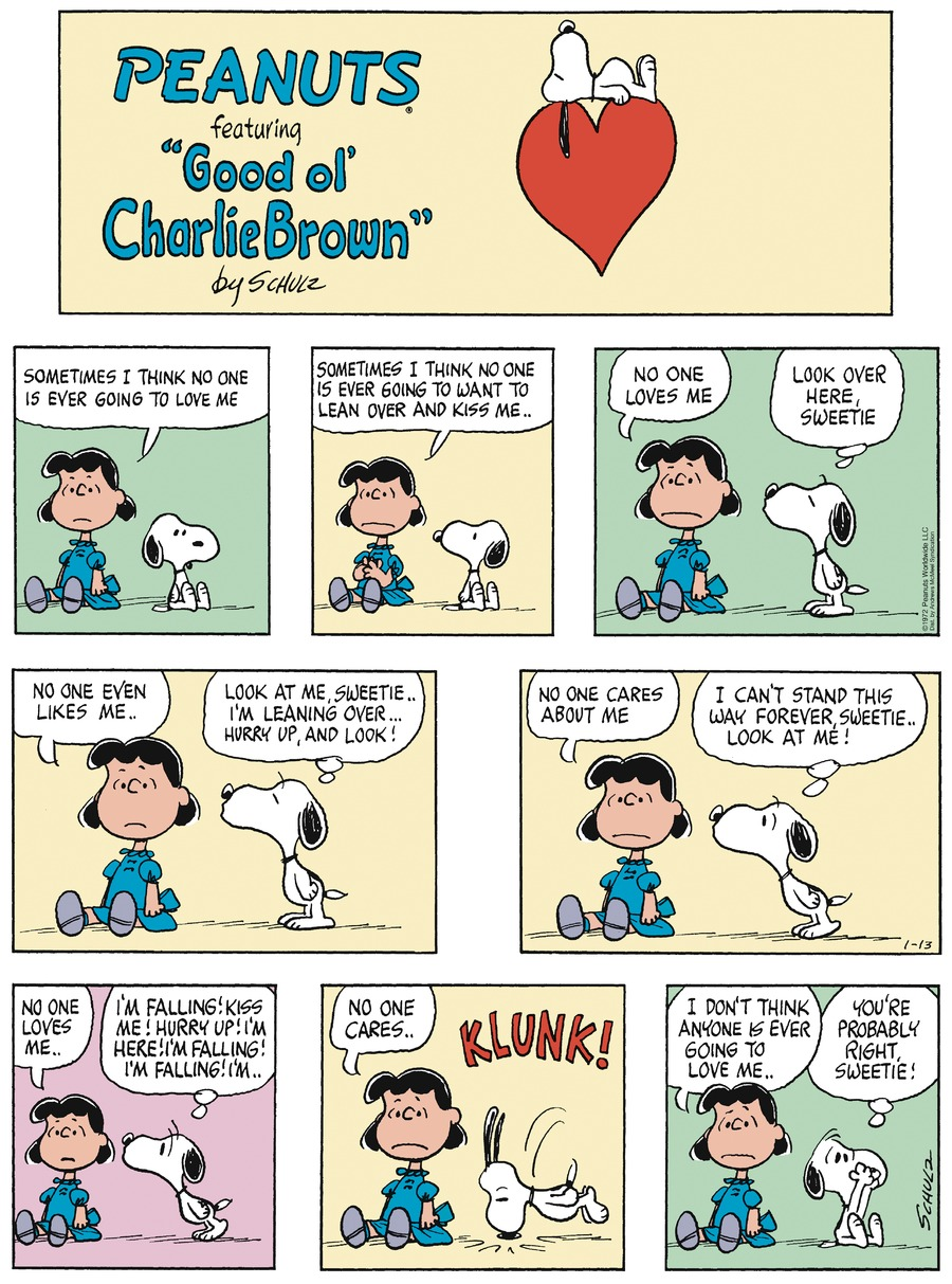 Peanuts by Charles Schulz for January 13, 2019