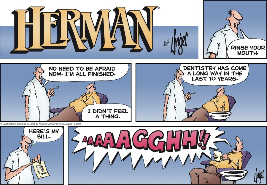 Herman Comic Strip for August 16, 2020