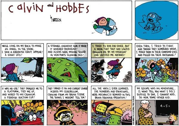 Calvin and Hobbes - Sunday February 10, 1991 Comic Strip