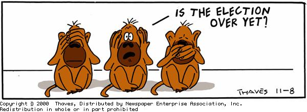 Frank and Ernest Comic Strip for November 08, 2000