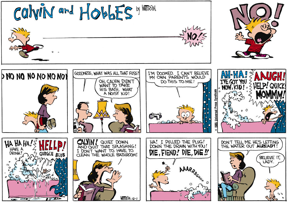 Calvin and Hobbes for Dec 1, 1985 Comic Strip